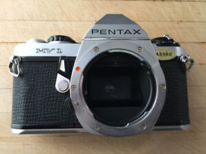Pentax mv-1 silver (rare) and macro zoom lens, 40 -80mm f2.8