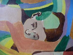 "Modern Abstract Figures, Listed Artist Joyce Kellock ""Six Girls"" Stratford Kitchener Area image 8"