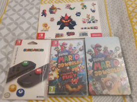 Mari 3d world plus bowsers fury. New and sealed.