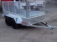 NEW 8x4 builders trailer with mesh sides(dale kane iforwilliams mcm nugent grass lawnmowers cattle)