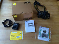 Nikon D800 digital camera body only great condition