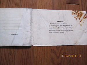 1968 Camaro, Chevelle and Chevy II Owners manual Sarnia Sarnia Area image 4