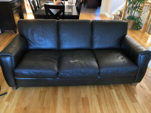 Free Leather Couch and Club Chair