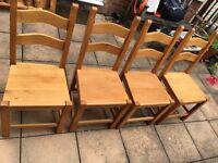 4 beech chairs