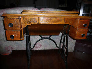 Antique Tredle Sewing Machine Cabinet