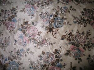 Bolt of suede furniture cloth floral print Kawartha Lakes Peterborough Area image 1