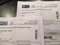 British Masters Golf Tickets