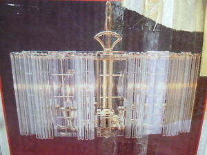 Crystal & Glass Chandelier - NEW