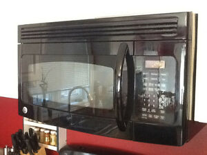 Black over the range microwave