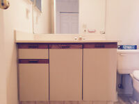 MELAMINE/WOOD CABINETS AND SINK VANITIES FOR SALE!