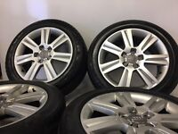 4 used 17 genuine audi a4 b8 se alloy wheels & tyres vw caddy passat seat delivery available