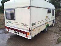 Scrap caravan 1992