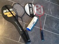 2 Badminton racquets with cases and shuttles!