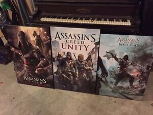 Selling wood assassins creed posters Belleville Belleville Area image 5