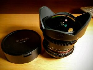 Rokinon/Samyang 8mm wide angl lens for Sony Minolta A Mount