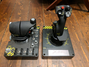 Saitek x-55 Rhino HOTAS (throttle and joystick)