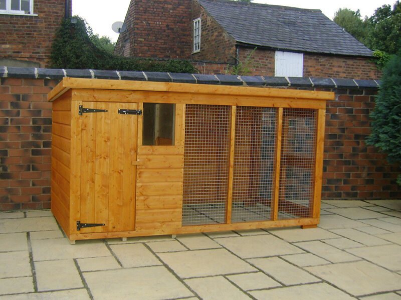 How to build a covered dog run ebay for Outside covered dog kennels