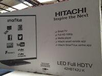 "New Graded Hitachi 42"" Smart TV With WIFI - Black"