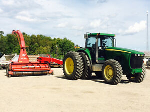 JD 8220 Tractor & JF Stoll Forage Harvestor