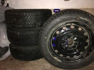 Ironman Polar Trax winter tires / rims205/55/16 - like new!!