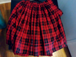 Highland national  dance skirt with shawl.