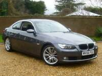 2007 56, BMW 330d 3.0TD auto d SE Coupe + BLACK LEATHER + XENONS + P/SENSORS