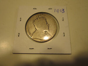 Old Canadian 50 cent silver coins London Ontario image 2