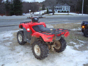 2012 honda trx500fm 2whd/4whd manual shift with warn winch.