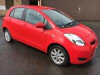 5909 Toyota Yaris VVT-I TR 1.3 Red 5 Door 80151mls MOT 12m