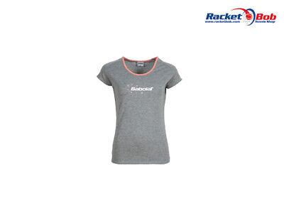 BABOLAT Core Mädchen Tennis T-Shirt Grau 12-14 Jahre Gr. 164 NEU ! - Mädchen Tennis Shirt