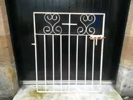 Gate cottage single path wrought-iron gate