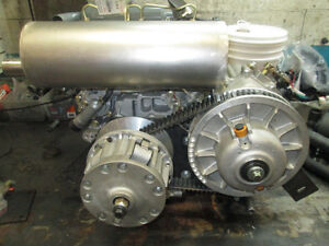 DIESEL ENGINE AND TRANSMISSION WITH CVT CLUTCHES V TWIN EV80