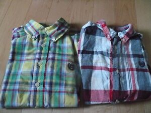 Lot of 2 Button Down Polo Size 7-8 Shirts