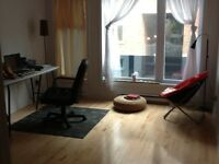 Large room in a new two bedroom condo, close to berri uqam