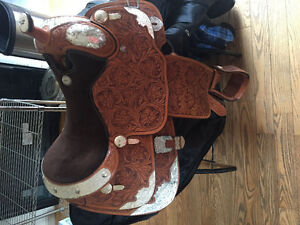 5 year old Billy Cook 16.5' seat show saddle, $2200 obo