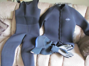 wetsuit mens, gloves and hood