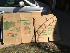 UHAUL Boites carton  cardboard boxes moving storage déménagement