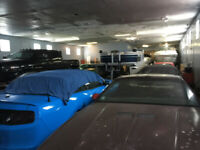 Dry heated storage for Cars, boats, motorcycles. Limited space