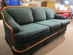 Comfy Forest Green Sofa For Sale