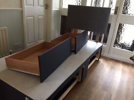 2 drawer divan bed with headboard