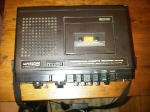 Superscope Vintage cassette recorder &  player with microphone