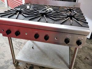 Restaurant 6-Burner Stove - Propane