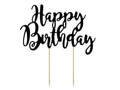 Tortenstecker Tortenfigur Cake Topper Geburtstag Happy Birthday Kuchenaufsatz ()