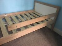 Wooden toddler bed for sale