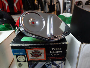 Harley chrome front caliper cover    recycledgear.ca