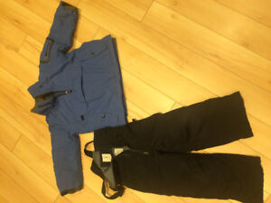 Lands End Snow Pants and Snow Jacket, kid size 4.
