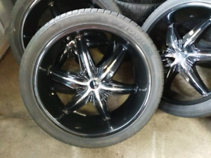 24 inch helo wheels and tires