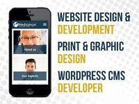 Website Design, Print and Graphic Design, WordPress CMS Developer, Bespoke Designer