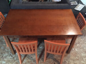 Kids pottery barn table with 4 chairs