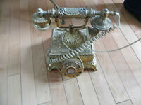BRASS ANTIQUE PHONE
